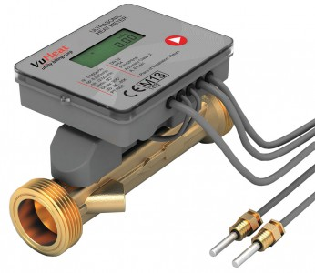 "VuHeat DN32 Compact Ultrasonic Heat Meter: :  Qp 6 (1 1/4"" Reducing connections included)"