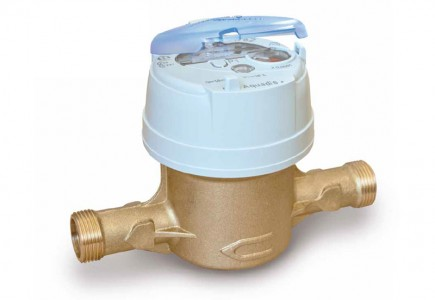 DN25 Itron Aquadis + Volumetric Water Meter (Cold) Dry Dial :: Nuts, Tails, Washers included