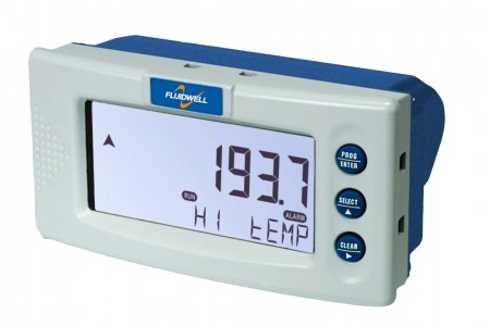 D043 DIN Panel mount - Temperature Monitor with one high / low alarm output
