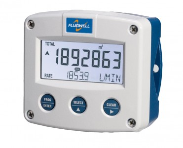 Fluidwell F115 Bi-directional Flow rate Indicator / Totaliser, ATEX, Intrinsically safe, EEx ia