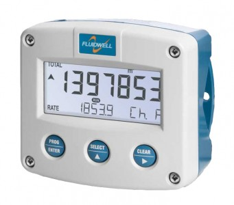 Fluidwell F111 Dual input flow rate indicator/totaliser, ATEX Intrinsically safe, EEx ia