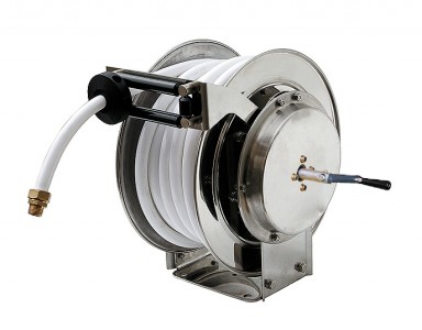Stainless Steel Hose Reel ~ Manual rewind :: Up to 40m hose